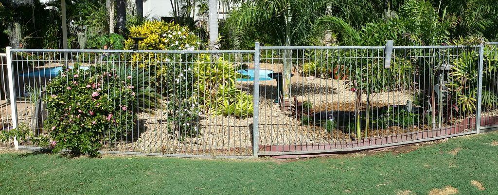 River stone to mulch garden.